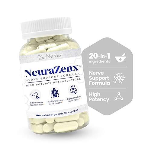 Neurazenx - Neuropathy Support & Nerve Pain Relief: Alpha Lipoic Acid 1200mg, Peripheral Neuropathy,...