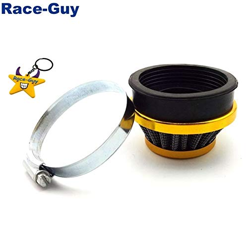 Filtro 60mm Rendimiento de oro de aire for 50cc 60cc 80cc Gas motorizado bicicletas 47cc 49cc Pocket Bike Mini Moto ATV Quad (Color : Gold)