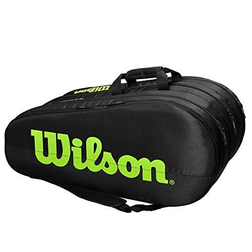 Wilson Team 3 Comp Raquetero, Adultos Unisex, Black/Green...