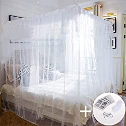 Mosquito net mosquito net for double beds 220 × 200 × 200cm Portable for travel at home with screw hook hanging cord (220 × 200 × 200cm)