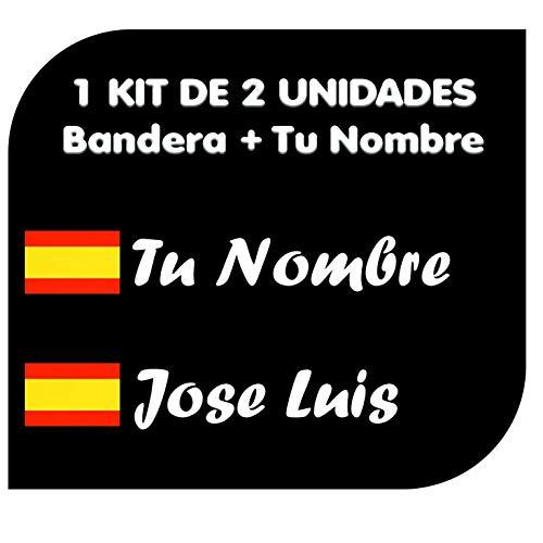 Colores Bandera Espa/ña y Spain Flag Colors Ecoshirt 7S-64H7-JV0D Pegatinas F207 Stickers Aufkleber Decals Moto GP Bike Coche