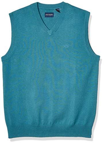dockers Herren Sweater Fleece Vest Button Down Hemd, Libelle, Klein