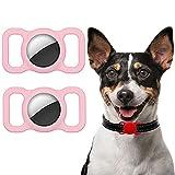 Ztowoto Custodia in silicone compatibile con collare per animali domestici Airtag, custodi...