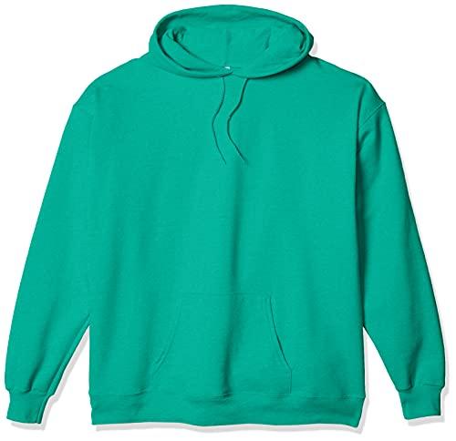 Hanes Men's Pullover EcoSmart Hooded Sweatshirt, kelly green, Small