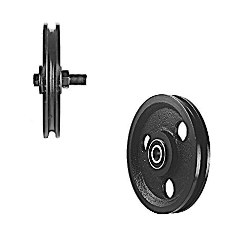 Best Buy! New Opener Parts 5 Inch Cast Iron Pulley w/Two Pressed Steel Bearings (400 lb Load)