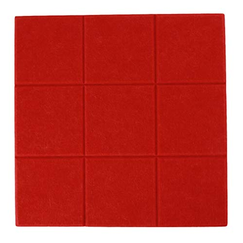 Weisin Tablero de corcho de fieltro para pared, tablón de anuncios, adhesivo para guardar fotos, fotos, fotos, fotos, dibujos, objetivos, notas, espuma colorida, decoración de pared, color rojo