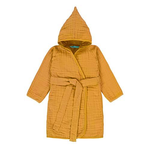 LÄSSIG Albornoz para bebé 100% algodón, con embalaje / muselina estampado, talla: 12-18 meses