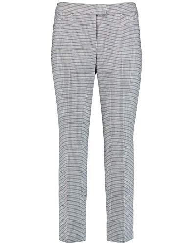 Gerry Weber damesbroek met minimalistische ruiten, klassieke pasvorm