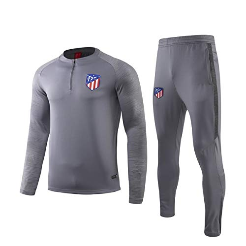 PARTAS Tracksuits Atlético Madrid Football Wear Verein Uniform Atlético Madrid Langarm-Trainingsanzug Wettbewerb Anzug Herren 2 Stück Sets (Size : XXL)