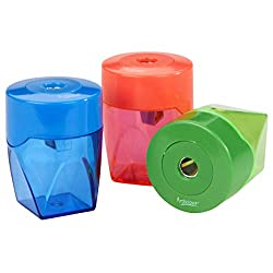 commercial Sorillo Brands 3 colorful compact metal pencil sharpeners – crayons, watercolors… pencil sharpener for colored pencils
