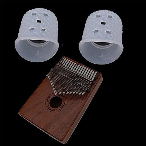 XuBa 2 stücke Finger Cover Relief Spielen Schmerzen Handschuhe Silikon Hände Mantel für Kalimba Thumb Piano Musikinstrument