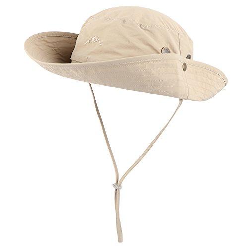 Anyoo Outdoor Boonie Mütze Atmungsaktiv Breite Krempe Sommer Sonne Kappe UV Schutz Angeln Camouflage Mütze für Männer und Frauen, Wasserdicht für Wandern Camping Freizeit Abenteuer