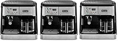 DeLonghi BCO430 Combination Pump Espresso and 10-cup Drip Coffee Machine with Frothing Wand, Silver and Black (3)