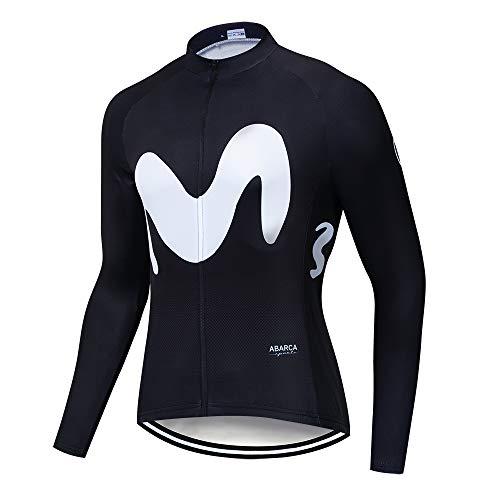 Manga Larga Maillot Ciclismo Hombre Bicicleta Tops S-5XL 100% Poliéster, Cremallera Reflectante,...