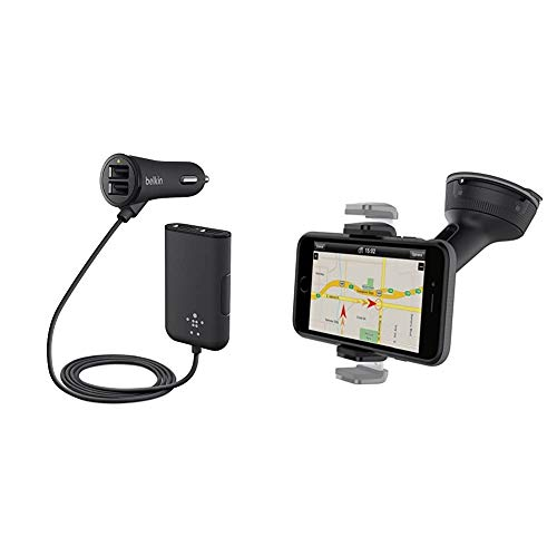 Belkin F8M935BT06 Road Rockstar Fast Charging Family Car Charger, Black & Car Universal Mount