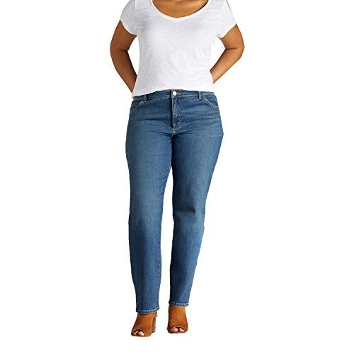Lee womens Plus Size Instantly Slims Classic Relaxed Fit Monroe Straight Leg Jean,Seattle,20W Medium
