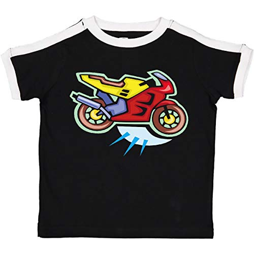 inktastic Crotch Rocket Motorcycle Toddler T-Shirt 2T Ringer Black and White 99f