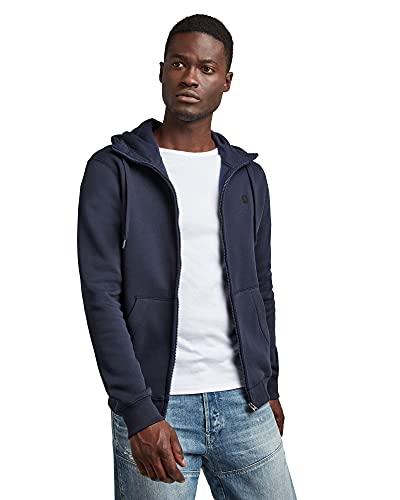 G-STAR RAW Herren Hooded Sweatshirt Premium Core Zip, Sartho Blue C235-6067, M