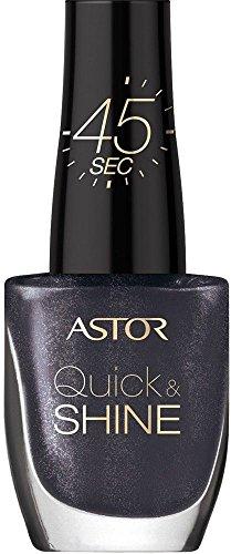 Astor Quick & Shine Nagellack, 602 Lady in black, schnell trocknend, 1er Pack (1 x 8 ml)