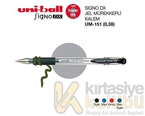 Penna a sfera Signo Dx Uni-Ball nero 0,38 mm M UM151 N