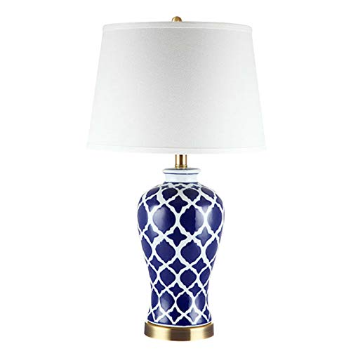 DALIBAI Chinese Style Blue And White Porcelain Table Lamp Bedroom Bedside Lamp Ceramic Living Room Creative Table Lamp
