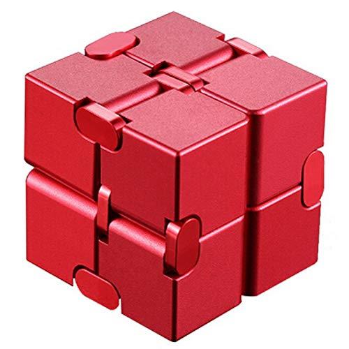 CARAV Endloser Zauber Würfel für Kinder und Erwachsene Konzentrationtraining gegen Stress (rot)