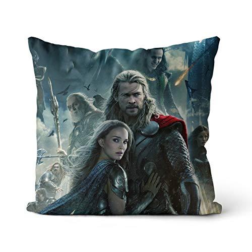 Almohadas de sofá de Sala de Estar Thor: The Dark World Thor, Jane Foster Almohada Decorativa para Dormitorio Funda de Almohada Decorativa para Dormitorio de sofá + núcleo de Almohada 45X45CM