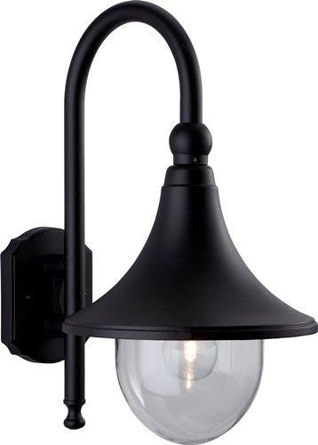 Firstlight 8757BK wandlamp lantaarn, E27, IP43, 1 x 60 watt, zwart