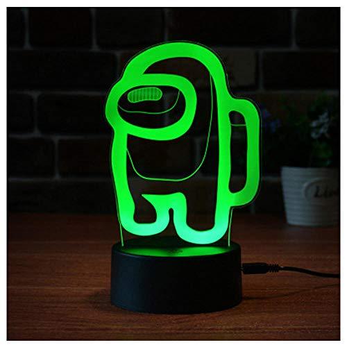 Lámpara de mesa de personajes de juegos de ilusión 3D, 3 colores Atmósfera de noche Luces de noche LED, entre los EE. UU. Detalles de la lámpara de la lámpara del juego.-9