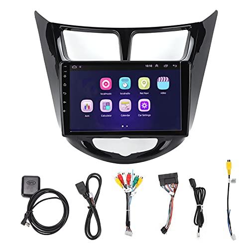 Navegador de coche Aramox, navegador de pantalla táctil multifuncional de 9 pulgadas, versión Bluetooth 4.0 para Android 10.0, reemplazo para VERNA 2010-2016(2 + 32G)