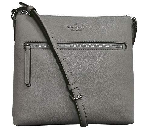 Kate Spade New York Jackson Top Zip Crossbody Bag Pebble Leather Soft Taupe...