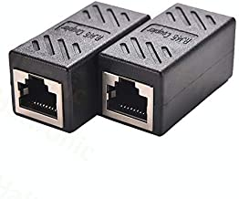 Haitronic 2 Pack RJ45 Coupler ethernet Cable Coupler LAN Connector Inline Cat7/Cat6/Cat5e Ethernet Cable Extender Adapter Female to Female