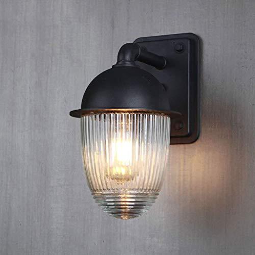 Wandlamp waterdicht roestvrij glazen bol buitenwandlamp terraswand balkon vloerlamp buitenwandlamp E27