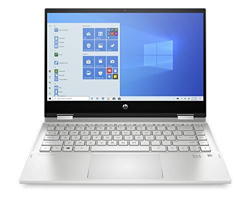 HP Pavilion X360 14-dw1028ns - Ordenador portátil convertible de 14' FullHD Táctil (Intel Core i5-1135G7, 8GB de RAM, 512GB SSD, Intel Iris Xe, Windows 10 ) Plata - teclado QWERTY Español