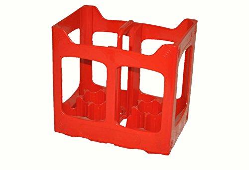 MiniEco Plástico 10 Compartimientos Caja Cajón Contenedor Botella De Cerveza Adapta a Botellas de 10 x 330-500 ml. Utilizado en Casa Apilado Reciclaje Cervecerías Sidra