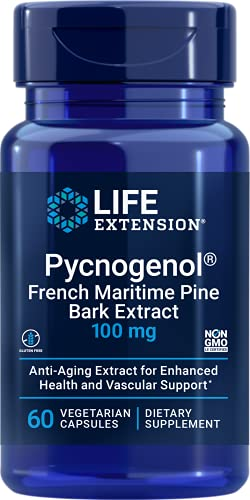 Life Extension Pycnogenol French Maritime Pine Bark Extract 100 Mg 60...