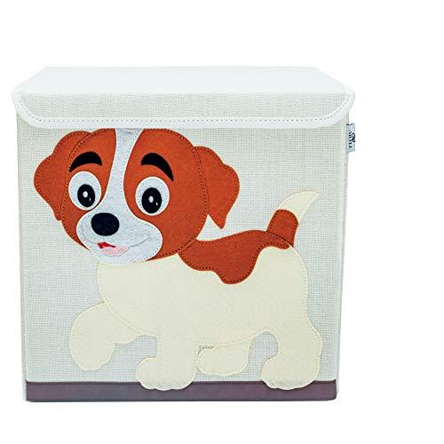 Artli Caja de almacenamiento para juguetes infantiles, caja de juguetes con tapa para la habitación de los niños, caja de juguetes Kallax, estantería para perros, 33 x 33 x 33 cm