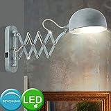 Wand Lampe verstellbar Wohn Zimmer Beleuchtung Zement Design Leuchte im Set inkl. LED Leuchtmittel