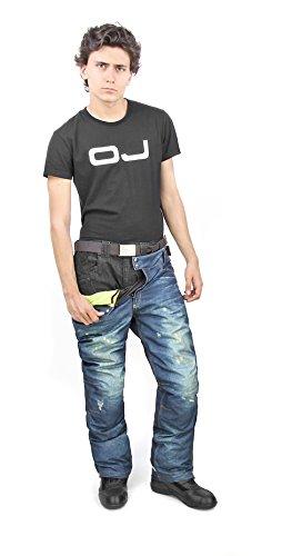 OJ Freestyle Pantalones Impermeables con Membrana y Guata Térmica, Vaqueros, M