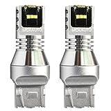 MCK Auto - Remplacement pour Ensemble d'ampoules blanches à LED CanBus T20 7443 W21/5W très clair et sans erreur compatible avec E60 E61 E88