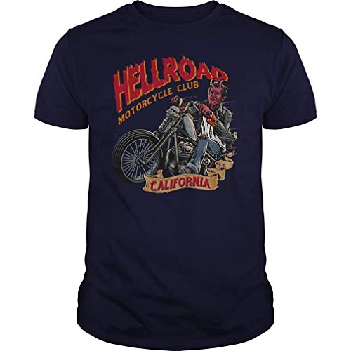 QUEMIN Hellroad Motorcycle California Biker Vintage Camiseta XXL
