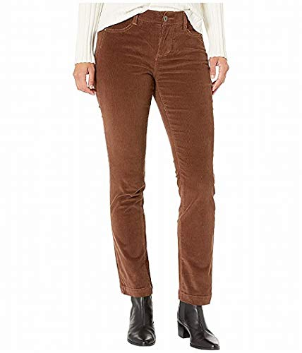 Jag Jeans Women's Petite Ruby Straight Corduroy Jean, Walnut, 4P