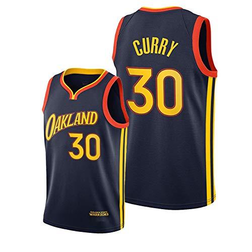 Cǔrry Herren Basketball Shirt Training Ärmellose Weste,Gǒlden Stǎte Wǎrriors # 30 Oakland City Edition Navy Jersey S