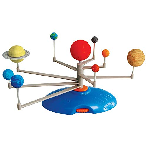 AmScope Kids Solar System Planetarium – Build-It and Paint-It DIY STEM Science Kit with Paint and Brush
