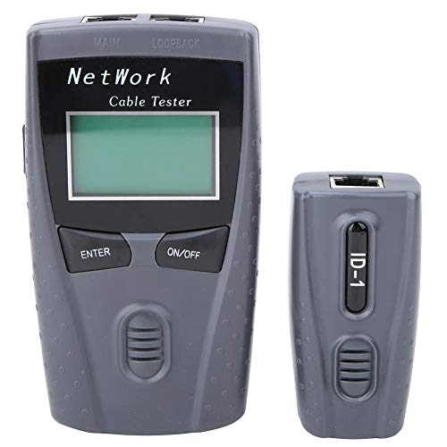 Netzwerktester, Multifunktions-LCD-Display LAN-Netzwerk-Leitungssucher Drahtkabeltester Test-Tool für Elektriker-Netzwerk-Leitungssucher