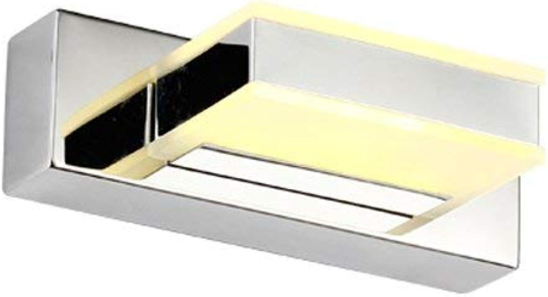 Einfache Moderne Led Acryl Edelstahl Badezimmer Spiegel Vorne Licht A+ (Gre  4 W (Warmes, Weies Licht 16 Cm))