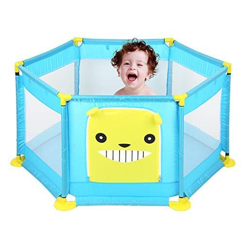 no brand Parcs for Enfants, bébé Peut y Jouer Ocean Ball Pool avec Mesh Respirant Extérieur Intérieur bébé Playpen (Color : Blue)