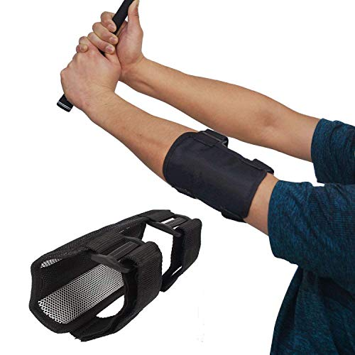 YIY Golf Trainingshilfe Swing Trainer Golf Swing Training Straight Practice Golf Ellenbogen Bandage Korrektur Unterstützung Bogen, A115, Schwarz, 17 * 11.5CM