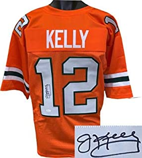Autographed Jim Kelly Jersey - Orange TB Custom Stitched College Style Football XL Witnessed Hologram - JSA Certified