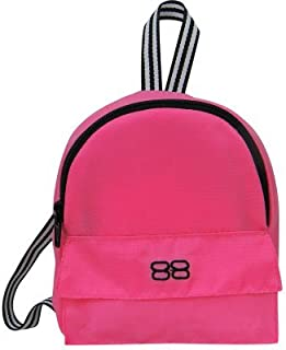 Sophia's 18 Inch Doll Backpack, Doll Sized Pink Nylon, Zipper Opening in Hot Pink